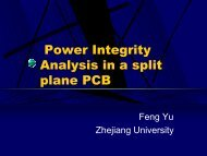 Presentation - Power Integrity Analysis in a split plane PCB