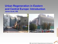Urban Regeneration in Eastern and Central Europe: Introduction - IRS
