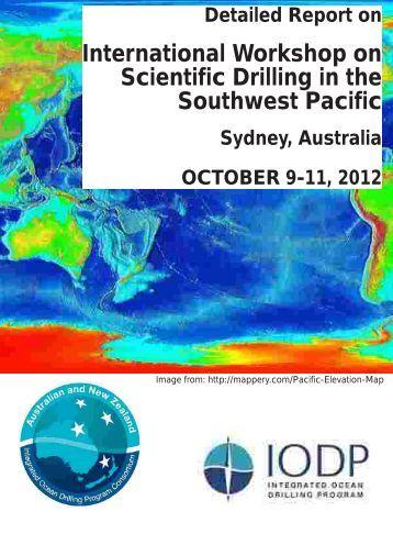 International Workshop on Scientific Drilling in the ... - EarthByte