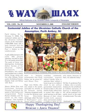 Here - Ukrainian Catholic Archeparchy of Philadelphia