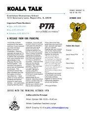Koala Talk: October 2010 - Cowlishaw Elementary School