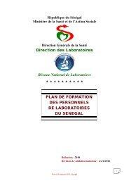 Télécharger le plan de formation du Sénégal - GLOBE Network