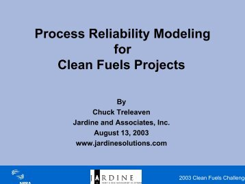 Process Reliability Modeling for Clean Fuels ... - Maros and Taro
