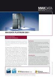 ® MAXDATA PLATINUM 200 I