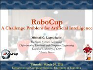 RoboCup - Intelligent Systems Laboratory