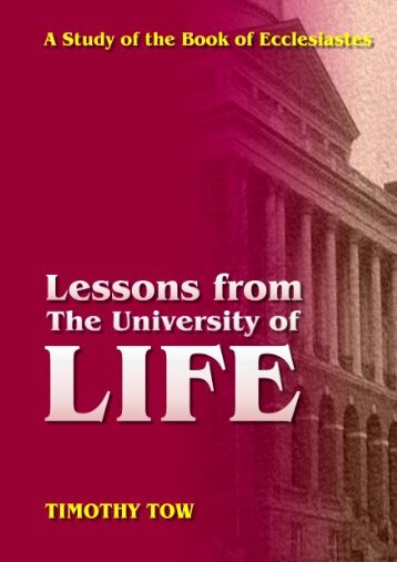 Lessons From LIFE - Far Eastern Bible College