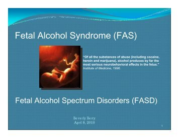 Fetal Alcohol Syndrome (FAS) - Department for Children and Families