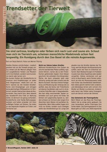 Trendsetter der Tierwelt - Birseck Magazin