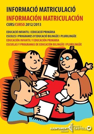 MATRICULACION INFANTIL.indd - Ayuntamiento de Castellón