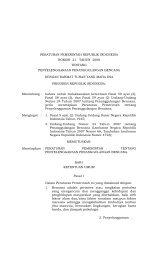Peraturan Pemerintah No.21 Tahun 2008 - BNPB