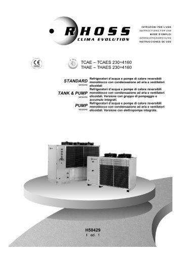 H50429-v01 Manuale Istr. TCAE_S-THAE_S 230-4160 - Rhoss