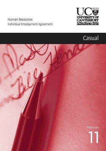 Casual IEA 2011 (PDF, 165 KB) - University of Canterbury