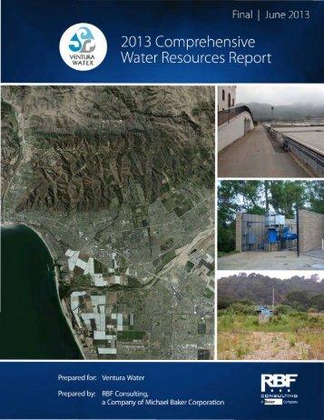 2013 COMPREHENSIVE WATER RESOURCES REPORT Final ...