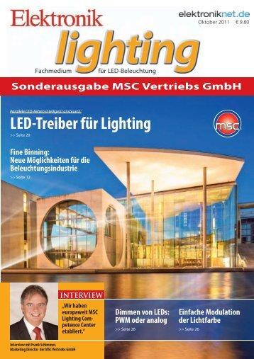 LED-Treiber für Lighting - MSC Vertriebs GmbH