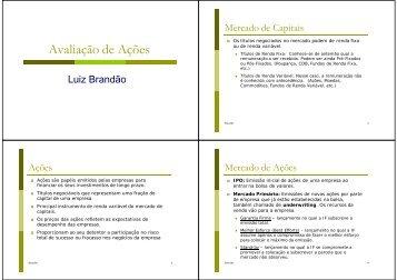 Avaliação de Ações - IAG - A Escola de Negócios da PUC-Rio