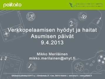 10.4. Mikko Meriläinen (pdf) - Asunto ensin
