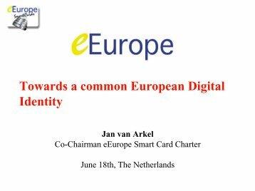 Towards a common European Digital Identity - oasis pki