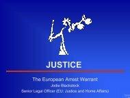 European Arrest Warrant - presentation - Justice
