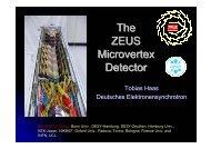 The ZEUS Microvertex Detector - Zeus - Desy