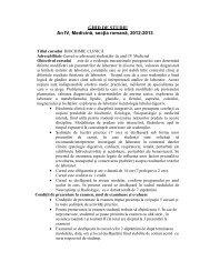 07. ghid de studiu BIOCHIMIE CLINICA sectia romana an IV ... - UMF