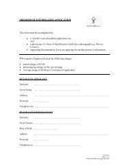 FREEDOM OF INFORMATION APPLICATION This form must be ...