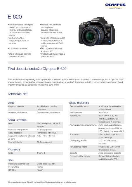 E-620, Olympus, Digital SLR