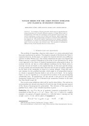 TAYLOR SERIES FOR THE ASKEY-WILSON OPERATOR ... - ICMAT