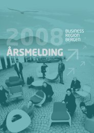 Årsrapport 2008 - Business Region Bergen