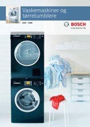 Vaskemaskiner og tørretumblere - Bosch