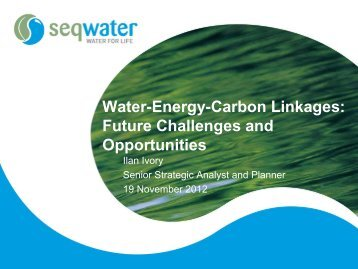 Water-Energy-Carbon Linkages: Future Challenges and Opportunities