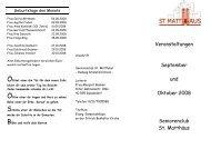 Veranstaltungen September und Oktober 2008 Seniorenclub St ...