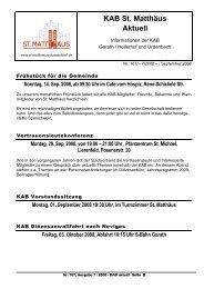 KAB St. Matthäus Aktuell - st-matthaeus-duesseldorf.de