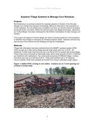 Soybean Tillage Systems To Manage Corn Residues - Ontario Soil ...