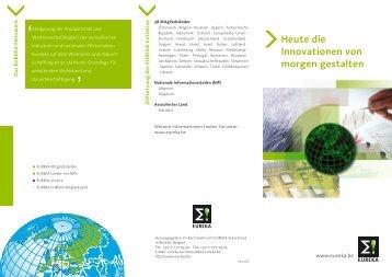Eureka-Broschüre - EU-Förderungen
