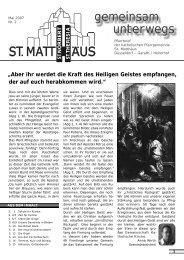 Mai 2007 - Katholische Pfarrgemeinde St. Matthäus Düsseldorf