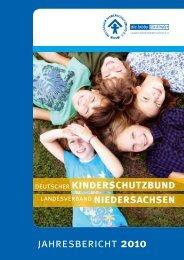 Jahresbericht 2010 - Deutscher Kinderschutzbund Landesverband ...