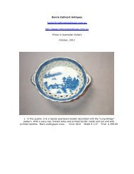Detailed descriptions and pricing - Transferware Collectors Club