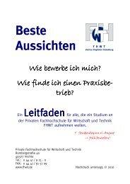 Bewerbunsleitfaden - Private Fachhochschule für Wirtschaft und ...