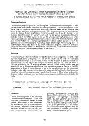 Nachweis von Listeria spp. mittels fluoreszenzmarkierter Gensonden