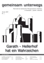 Garath-Hellerhof hat ein Wahrzeichen - Katholische Pfarrgemeinde ...