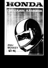Z50J Monkey 1987-1991 omistajan käsikirja (.pdf, 1.28 MB) - Honda