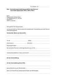 Betr.: Veranstaltungsanmeldung gemäß § 6 des Kärntner ... - St. Veit