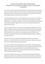 Discours David Thiberge voeux asso entreprises 2013