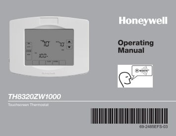 Operating Manual TH8320ZW1000 - Home Depot