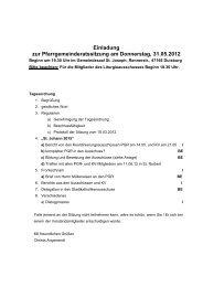 Protokoll der Gründungsversammlung vom 20 - Propstei St. Johann