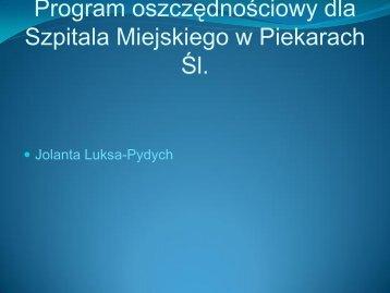 Program oszczędnościowy dla Szpitala Miejskiego w Piekarach Śl.
