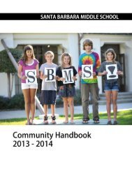 Community Handbook - Santa Barbara Middle School