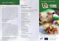 Pour plus d'informations - Q-porkchains-industry.org