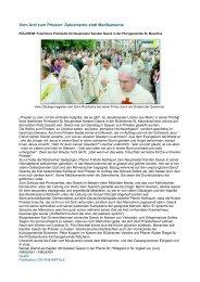 Vom Arzt zum Priester: Sakramente statt Medikamente
