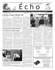 ECHOcantley.avril 99 - Echo of Cantley / Écho de Cantley